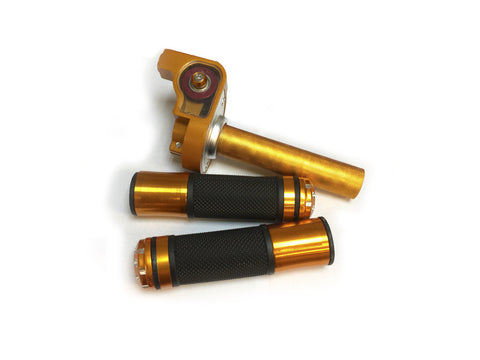 Aluminum Throttle Handle Set - Orange - Gasbike.net