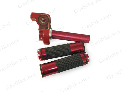 Aluminum Throttle Handle Set - Red - Gasbike.net