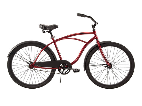 "26"" Huffy Men's Cranbrook Cruiser Bike, Red - Gasbike.net"
