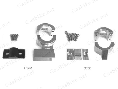 "Gasbike CNC Front (1.65"" Diameter) & Back (1.25"" Diameter) Engine Mount With Rubber Cushion"