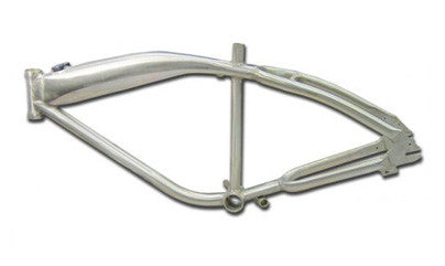 gasbike gt aluminum bike frame with built in gas tank non polished