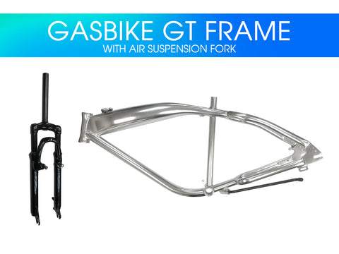 Gasbike GT Aluminum Bike Frame with Air Suspension Fork