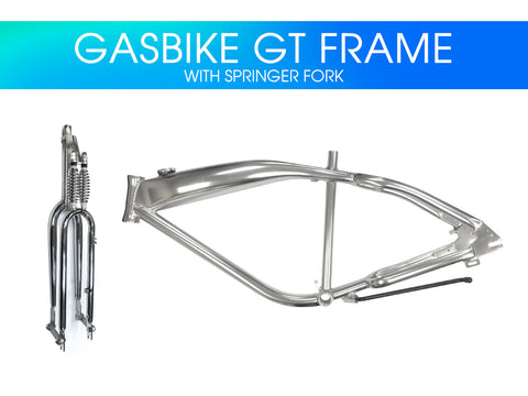 Gasbike GT Aluminum Bike Frame with Double Springer Fork - Gasbike.net