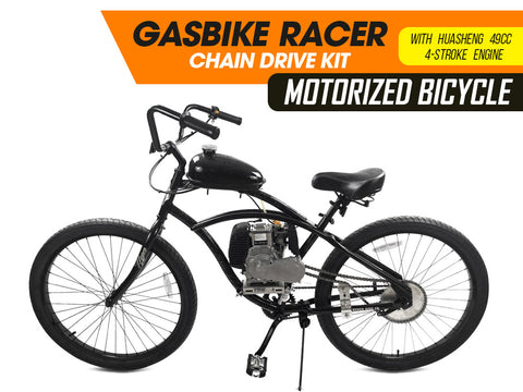 GasBike Racer Chain Drive Motorized Bicycle