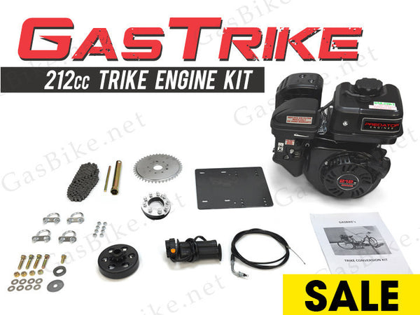 GasTrike 212cc Trike Engine Kit