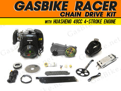 GasBike Racer Chain Drive Kit with HuaSheng 49cc 4-Stroke Engine