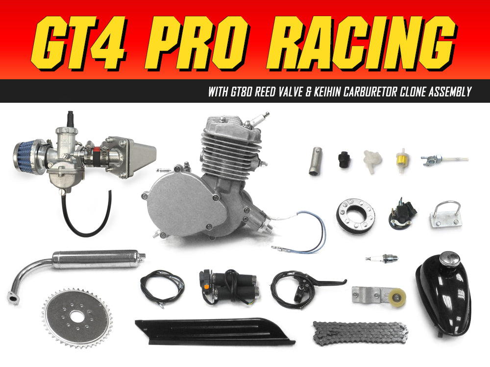 GT4 Pro Racing 66cc/80cc Bicycle Engine Kit | Gasbike net
