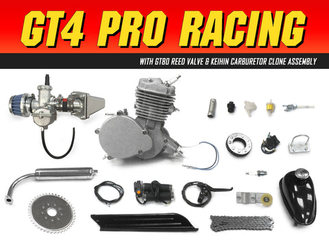 GT4 Pro Racing 66cc/80cc Bicycle Engine Kit - Gasbike.net