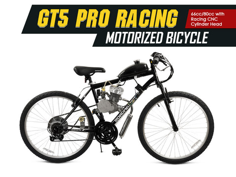GT5 Pro Racing 66cc/80cc Motorized Bicycle - Gasbike.net