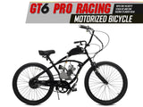 GT6 Pro Racing 66cc/80cc Motorized Bicycle - Gasbike.net