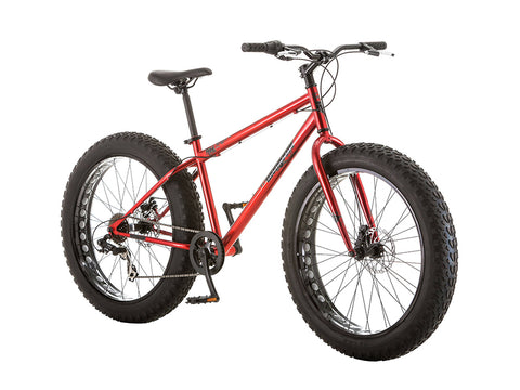 "26"" Mongoose Hitch Men's All-Terrain Fat Tire Bike, Red - Gasbike.net"