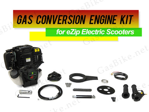 Gas Conversion Engine Kit for eZip Electric Scooters (Free Shipping) - Gasbike.net
