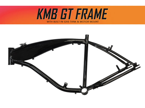 KMB GT Aluminum Bike Frame (Black) for 48cc / 66cc 2-Stroke & 4-Stroke Engines - Gasbike.net