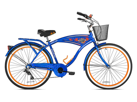 "26"" Men's Margaritaville Multi-Speed Cruiser Bike, Blue - Gasbike.net"