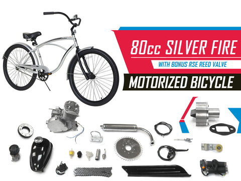Silver Fire 66cc/80cc Motorized Bicycle - Gasbike.net
