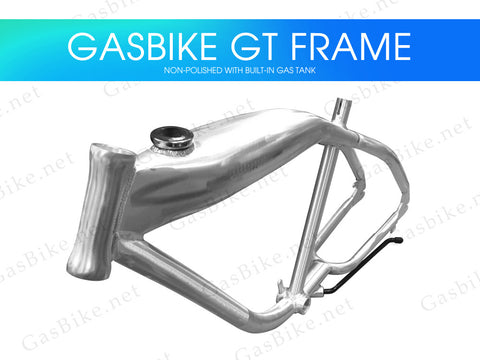 Gasbike GT Aluminum Bike Frame With Built-in Gas Tank - Non-Polished - Gasbike.net
