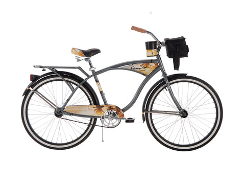 26 Inch Huffy Men's Panama Jack Cruiser Bike, Grey - Gasbike.net