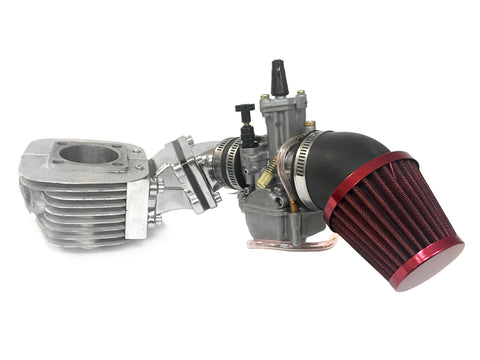 Dio Reed Valve Zeda Racing Cylinder and Carburetor Assembly - 66cc/80cc