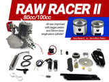 Raw Racer II 80cc/100cc Bicycle Engine Kit - Gasbike.net