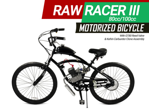 Raw Racer III 80cc/100cc Motorized Bicycle - Gasbike.net