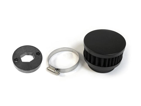 79cc Round High Performance Air Filter - Black - Gasbike.net