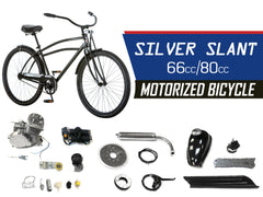 Silver Slant 66cc/80cc Motorized Bicycle
