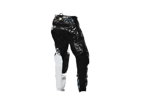Scoyco Motorcycle Professional Racing Pants - Black + White - (FSLV)