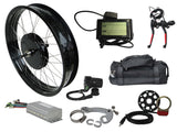 "Tesla 26"" Electric Conversion Fat Front Wheel - 48 V 1000 W (With Disc Brake and LCD)"