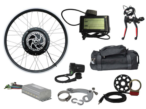"Tesla 26"" Electric Conversion Front Wheel - 48 V 1000 W (With Disc Brake and LCD) - Gasbike.net"