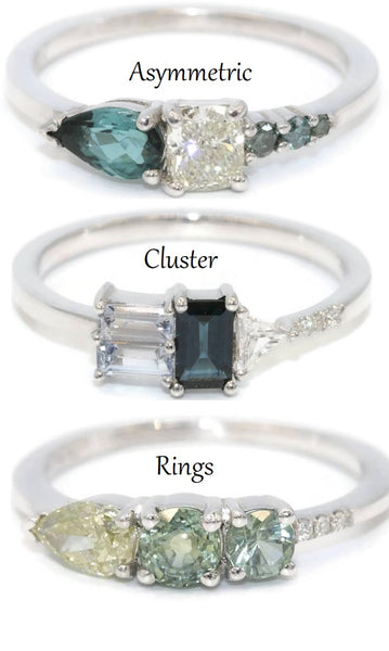 asymmetric cluster rings
