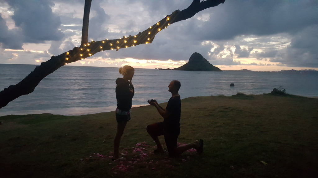 Beach proposal. Michael and Erin.