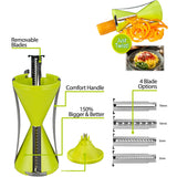 Spiral Vegetable Slicer Spiralizer With 4 Blades