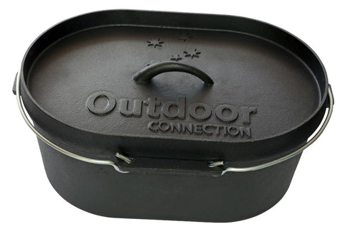 Outdoor Connection 10 Quart Oval Camp Oven - Action Camping & Outdoors - 1