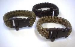 Bush Tracks Paracord Survival Bracelet with Whistle - Action Camping & Outdoors