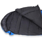 Weisshorn Camping Envelope Single Sleeping Bag - Blue/Black
