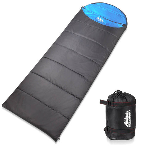 Weisshorn Single Camping Envelope Sleeping Bag Micro - Blue/Grey
