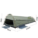 Weisshorn King Single Camping Canvas Swag Tent - Celadon W/ Air Pillow - Action Camping & Outdoors - 2
