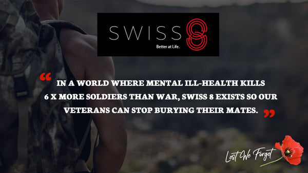 Raising funds for Swiss 8 and Aussie Veterans
