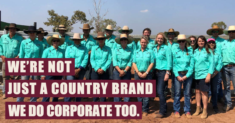 We're not just a country brand, we do corporate too.