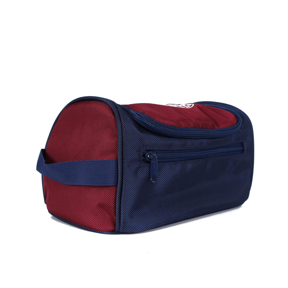 Occy Toiletry Bag Burgundy/Navy