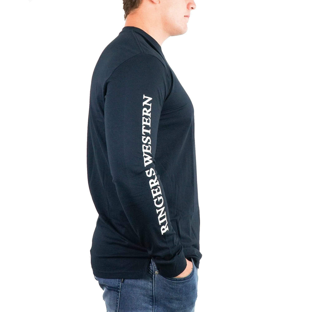Mens RW Long Sleeve Tee in Black/White