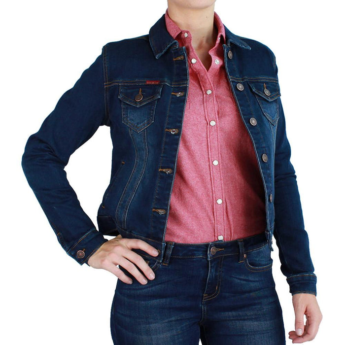Alexandria Womens Denim Jacket Classic Blue