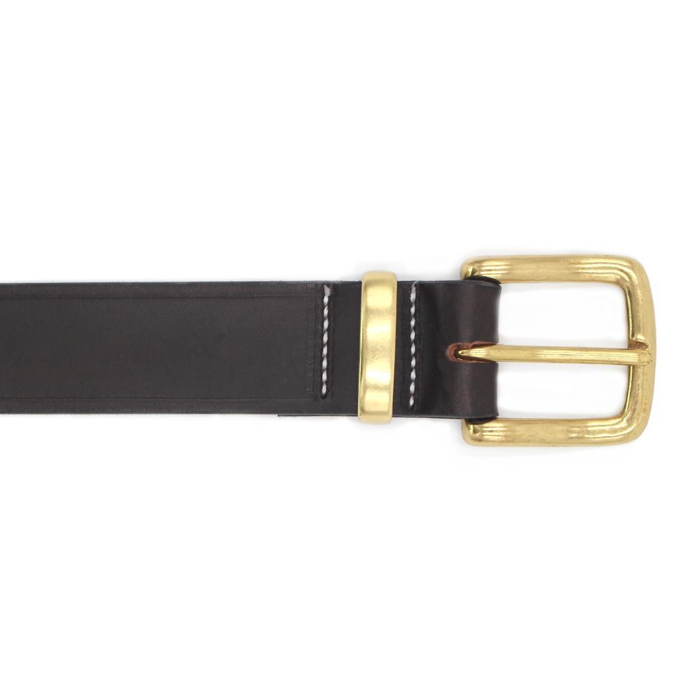 Saddler Leather Dress Belt 1 1/2 Brown with Brass Buckle
