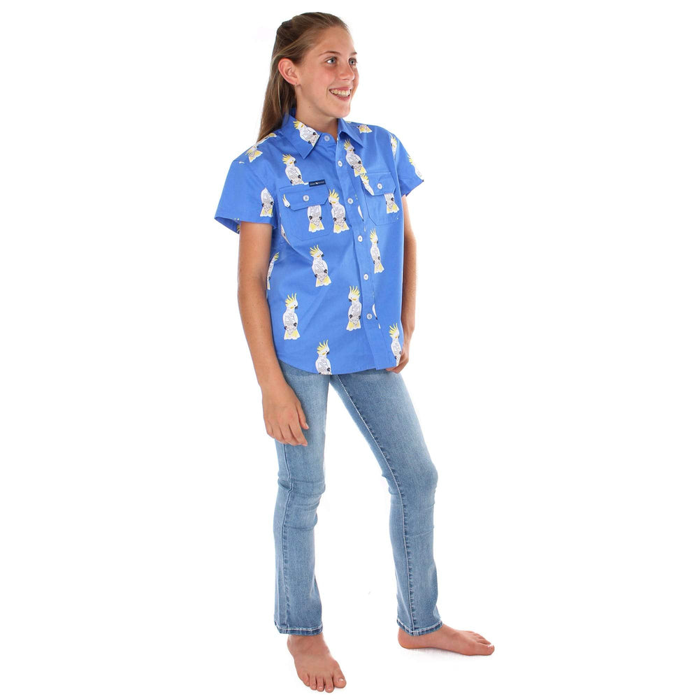 Cockatoo Kids Full Button Loose Fit Short Sleeve Workshirt