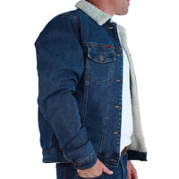 Duncan Mens Denim Jacket Mid Blue