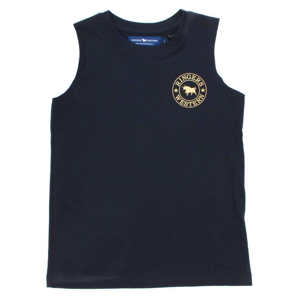 Signature Bull Kids Tank in Black/Gold