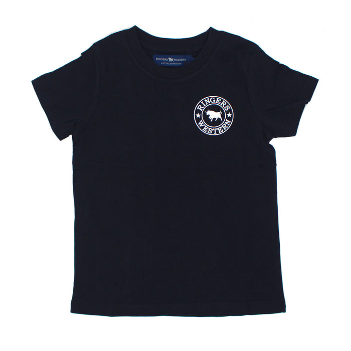 Kids Signature Bull Tee in Navy