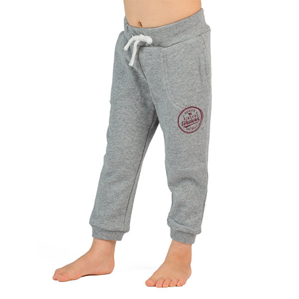 Kids roper track pants in grey cotton