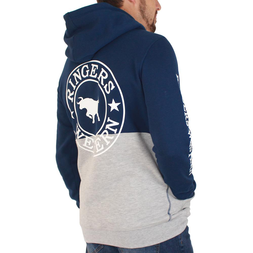 Hahndorf Mens Pull Over Hoodie Navy / Grey Marle