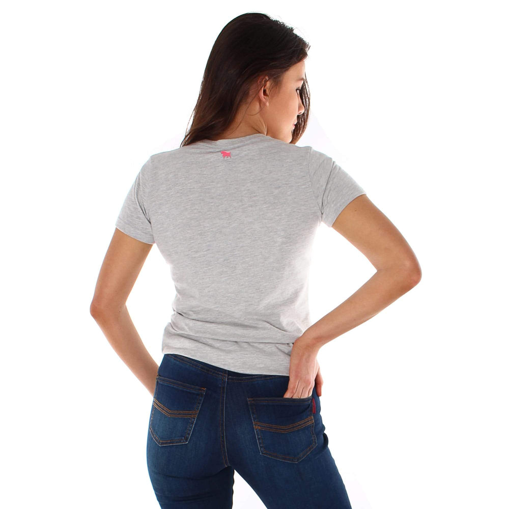 Curl Curl Womens Classic T Shirt Grey Marle